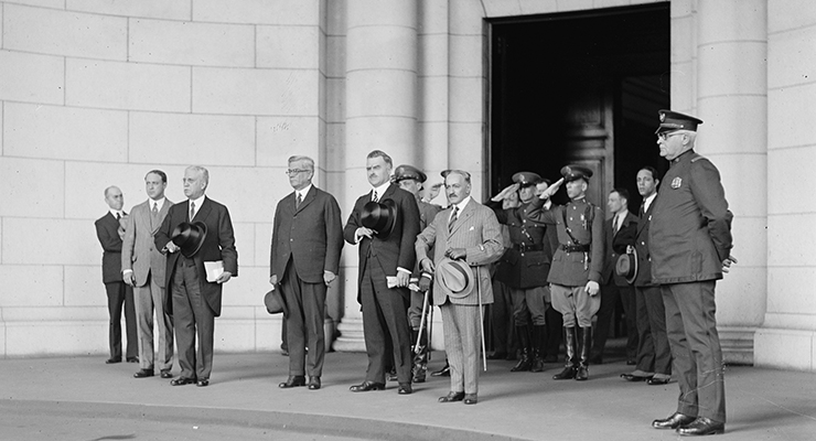 Gerardo Machado, llegada a Union Station el 15 de abril de 1925. [Fuente: Library of Congress]