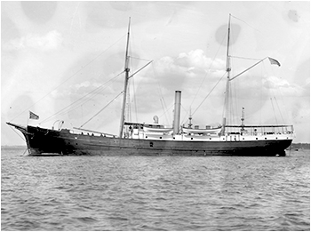 Vapor estadounidense U.S.S. Fern (Ca. 1901, Library of Congress).
